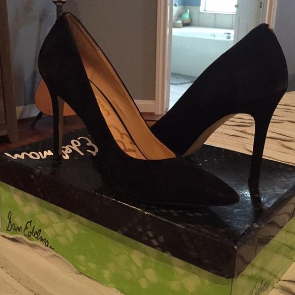 1c2c8419e Hazel black suede Sam Edelman heels. M 5a917c41077b97b566fd90e5